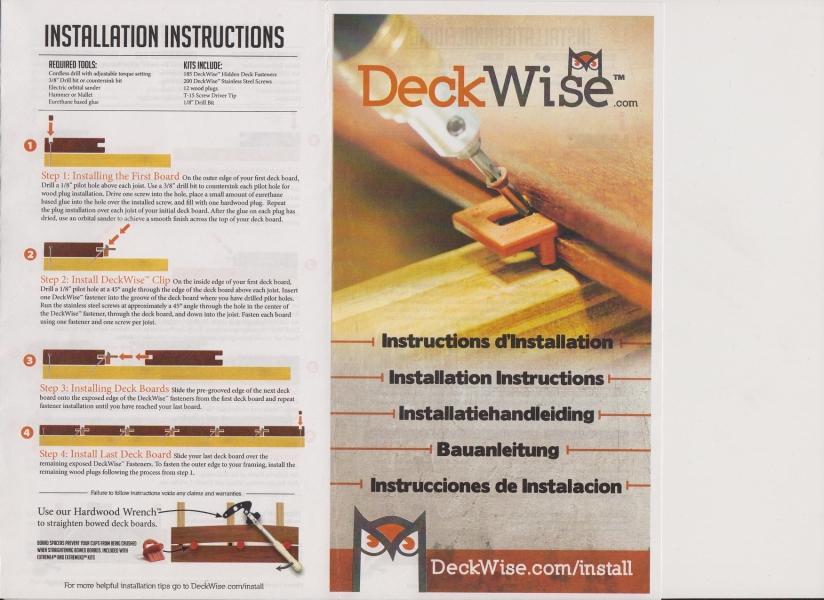 Extreme hardwood Decking clips *hidden fix system* instructions